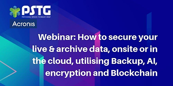 Webinar: how to secure your live and archive data